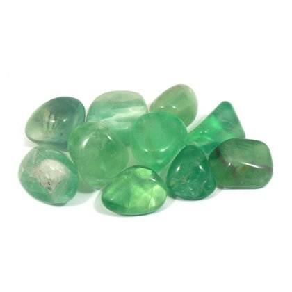 Fluorite Tumble Stones (20-25mm) - 10 Pack (Fluorite Crystal Multi)