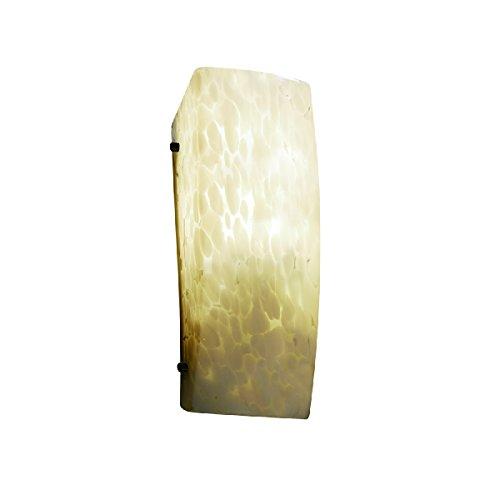 - Justice Design Group Lighting FSN-5135-DROP-DBRZ-LED1-1000 Fusion - Finials ADA Rectangle Wall Sconce - Dark Bronze - Droplet - LED