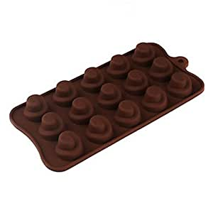 LCJ Silicone Circular Hole Comma Shaped Sugarcraft Mold for Candy/Cookie/Jelly/Chocolate