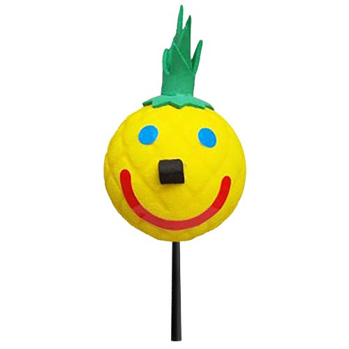 Jack in The Box - Original Year 2016 Hawaii Hawaiian Exclusive Pineapple Car Antenna Topper/Mirror Dangler/Desktop Spring Bobble Stand + Happy Yellow Face Antenna Ball