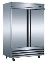 Omcan 24262 Commercial CFD-2FF 2-Door Reach IN Freezer