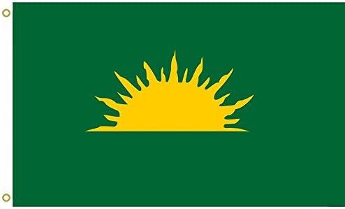 150cm x 90cm Starry Plough Green Ireland Flag Banner 5ft x 3ft