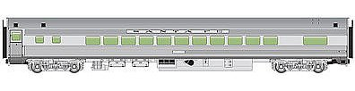 Walthers 85' Budd Small-Window Coach - Ready to Run -- Santa Fe (Silver)