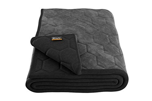 Cheap Layla Weighted Blanket with Fleecy Top Layer and 300 Thread-Count 100% Cotton Bottom Layer (Queen) Black Friday & Cyber Monday 2019