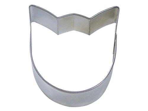 CybrTrayd R&M Tulip Bloom Tinplated Steel Cookie Cutter, 3.5-Inch, Silver, Bulk Lot of 12