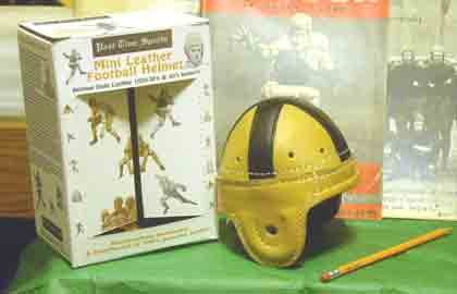 Past Time Sports Mini Notre Dame Leather Football Helmet (1947-1954)