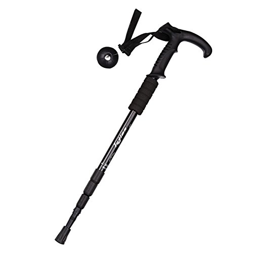 Shengfn Anti Shock Ajustable Walking Sticks Hicking/trekking Trail Poles (Black)
