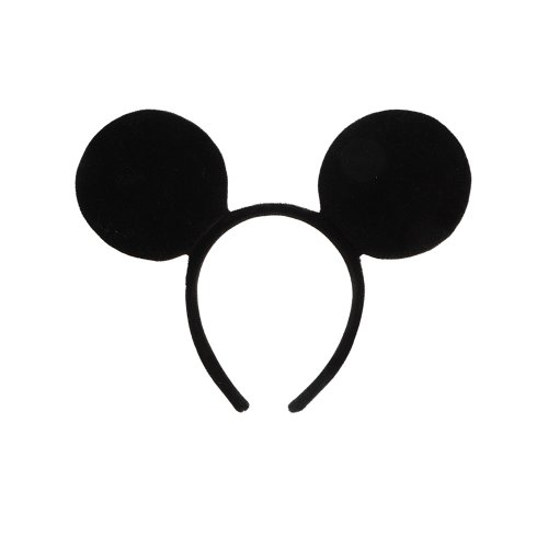 Velvet Mickey Mouse Ears - Birthday Party & Costume Supplies - 1 per pack (Mickey Mouse Ears Costume)