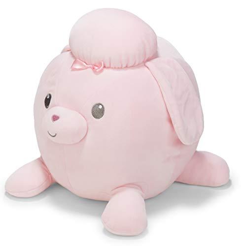 Cuddle Pals Round Huggables Pink Poodle Plush