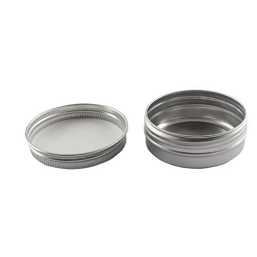 - Vosarea 5 x Aluminium Specimen Box Thread Travel Bottles Cosmetic Container Empty Cream Jar Pot Lid Makeup Pomade 50ML