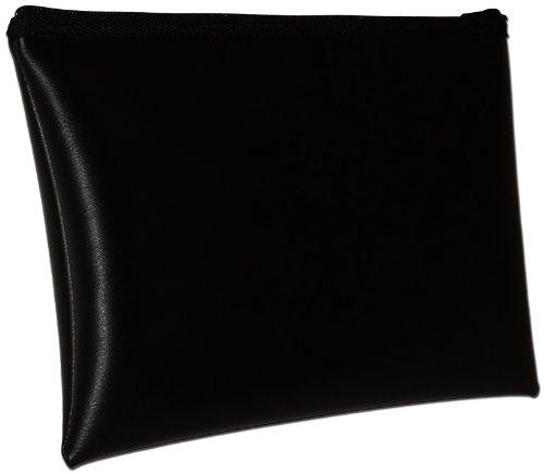 Coin Zipper Vinyl (MDM Security Bank Deposit / Utility Zipper, Coin Bag, 13x9 Inches/ Black Money Bag.)