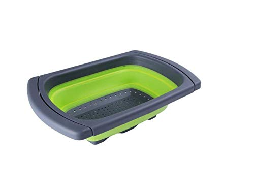 Fairbridge Kitchen Collapsible Colander, Over The Sink Strainer With Steady Base For Standing, 6-quart Capacity, Dishwasher-SafeBPA Free