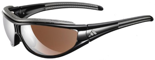 Adidas A127/00 6078 Black Anthracite Evil Eye S Wrap Sunglasses Golf, - Cycling Sunglasses Adidas