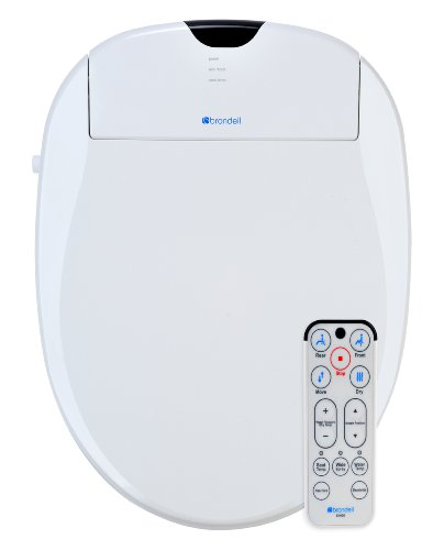 - Brondell S1000-EW Swash 1000 Advanced Bidet Elongated Toilet Seat, White