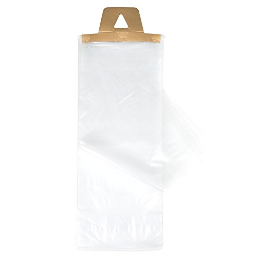 ClearBags 9 x 21 Newspaper Bags | Clear Plastic Poly Bags for Newspapers | Cardboard Header Perforated Easy Tear off Design | Protect Against Rain Weather Bugs | 1.2 Mil LDPE | NPB1 (Pack of 1000)