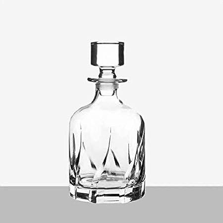 Juego de Jarras y Vasos de Whisky Decantador de Vino Crystal Glass Whiskey Bottle Decanter 800ml (Color : #6)