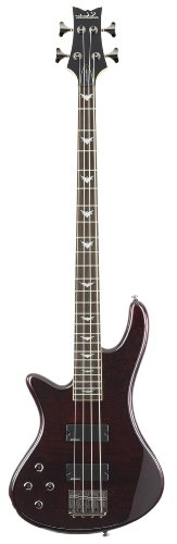 Schecter Stiletto Extreme-4 Bass Guitar (4 String, Left Handed, Black Cherry)