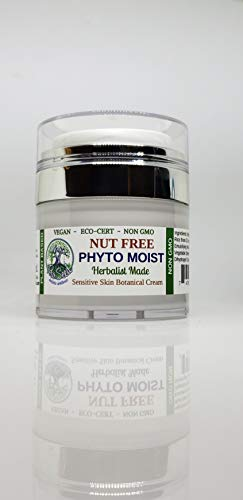 PHYTO MOIST - NUT FREE All Natural Rejuvenating Anti-Aging Lotion for Sensitive Skin | Hypoallergenic | Herbalist Made & Vegan | Cell Renewing Lotion with Aloe Vera | Organic & EcoCert Ingredients