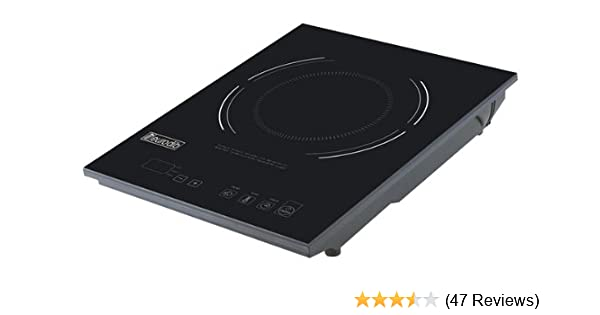 Eurodib P3D Countertop Induction Range with Digital Temperature Controls Cooktop, Single Induction, 1600-Watt/120-Volt