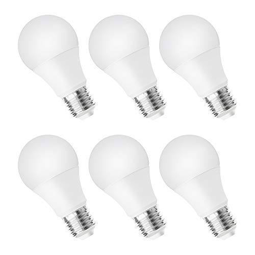 Worbest A19 LED電球 (75W相当) 12W 1050LM 3000K(ソフトホワイトグロー) E26 ミディアムスクリューベース 調光可能電球 3年保証 省エネ UL規格認定取得済み 6個パック B07H97YDYL