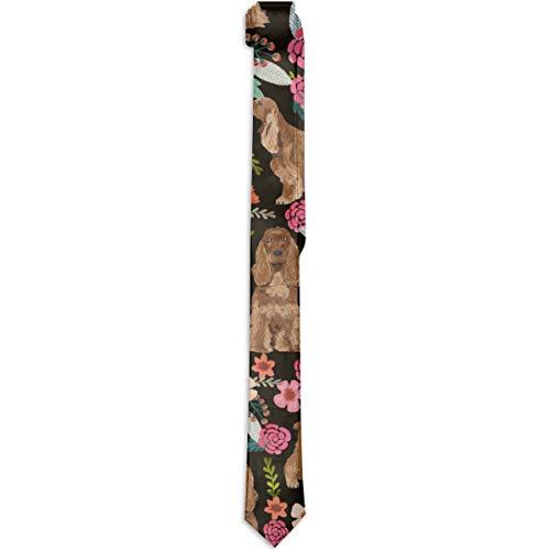 Fashion Men Necktie Accessories, Gentleman Gift Neck Tie - Cocker Spaniel