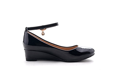 Pictures of Mila Girls Litte Girls Low Wedges Pumps Black 13 M US 3