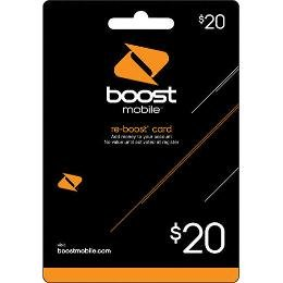 Boost Mobile $20.00 Reboost Prepaid Refill Card (Boost Mobile Minutes)