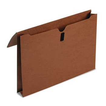 Smead Expanding File Wallet with Flap and Hook and Loop Closure, 2'' Expansion, Legal Size, Redrope, 50 per Box (77145)