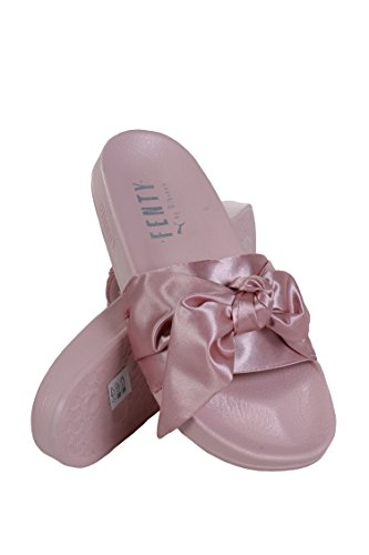 sports shoes ea840 897d9 PUMA Women's FENTY x PUMA Bow Slides, Silver Pink/Puma Silver, - Import It  All