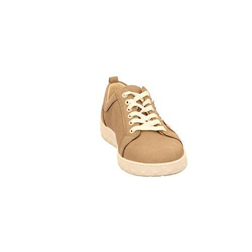 Lacets Femme à l platin Chaussures Pour gold Ville Waldläufer taupe de IqBwa4T