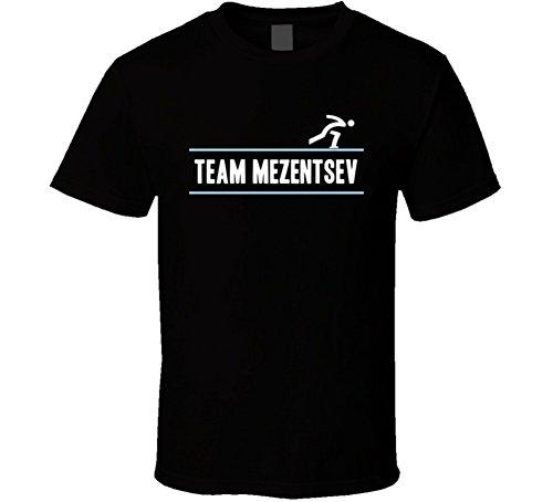 Tshirtshark Fedor Mezentsev Kazakhstan Team Winter Olympic Athlete Speed Skating Fan T Shirt S - Black Fedor