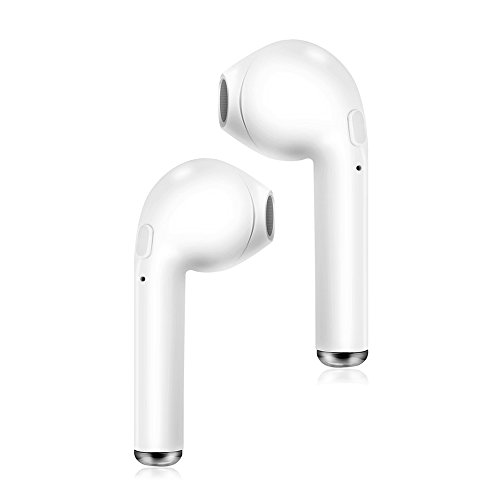 Moow Wireless Bluetooth Headphone with Noise Canceling Microphone for Universal/Smartphones - White