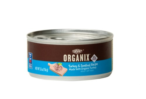 Castor and Pollux Organix Feline Formula, Turkey with Seafood, 5.5-Ounce Cans (Pack of 24), My Pet Supplies