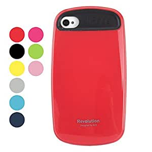 Stylish Silicone Hard Case for iPhone 4 and 4s (Assorted Colors) --- COLOR:Black