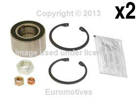 Cabriolet Wheel Bearing Kit - VW Cabriolet (85-93) Wheel Bearing Kit Front L+R (x2) SKF