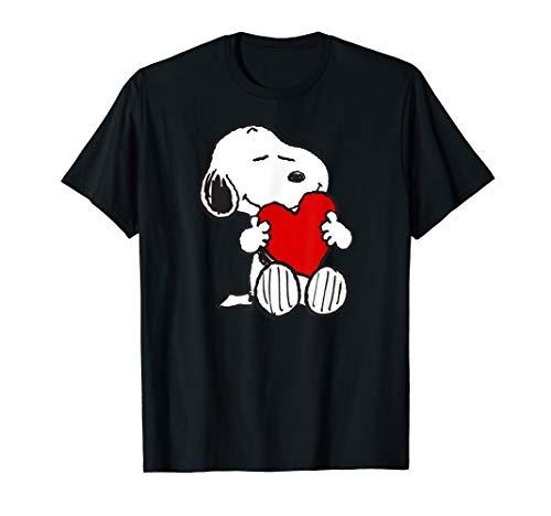 Peanuts Valentine Snoopy Hugging Heart T-shirt
