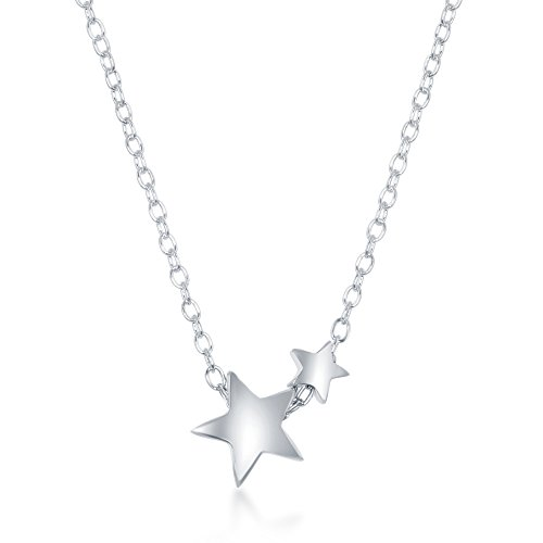 Sterling Silver Double Star 16+2