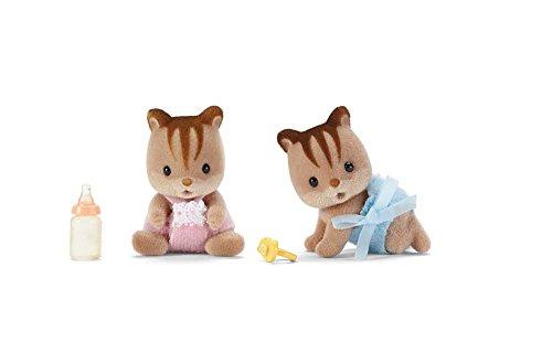 Calico Critters Hazelnut Chipmunk Twins Boy & Girl CC1481