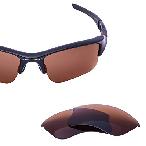 (LenzFlip Polarized Replacement Sunglass Lenses for Oakley Flak Jacket XLJ Sunglasses Brown Polarized)