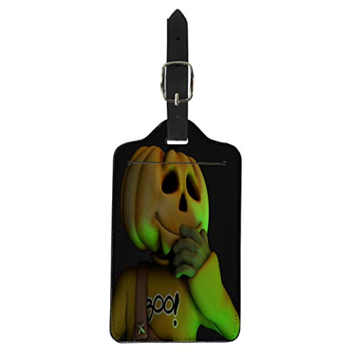Pinbeam Luggage Tag All Pumpkin Halloween Man American Boo Candy Creepy Suitcase Baggage Label]()
