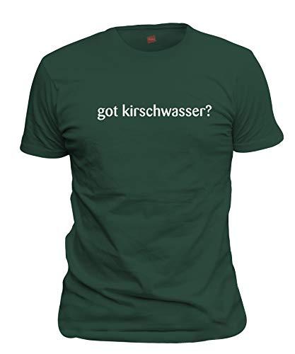 shirtloco Men's Got Kirschwasser T-Shirt, Forest Green - Brandy Cherry Forest