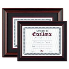 The Burns Group DAX N15786ST Desk/Wall Photo Frame, Plastic, 11 x 14, 8 1/2 x 11, Rosewood/Black ()