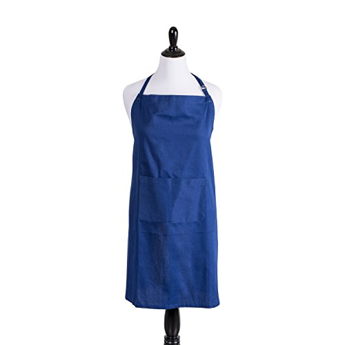[DII 100% Cotton, Professional Plus Size Bib Chef Apron 32x38