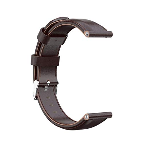 Mbtaua-Watch Leather Watch Strap Replacement,Multiple Colors Wrist Band for Suunto9/Spartan Sport Wrist Hr Bara Coffee