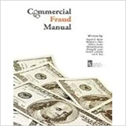 Commercial Fraud Manual