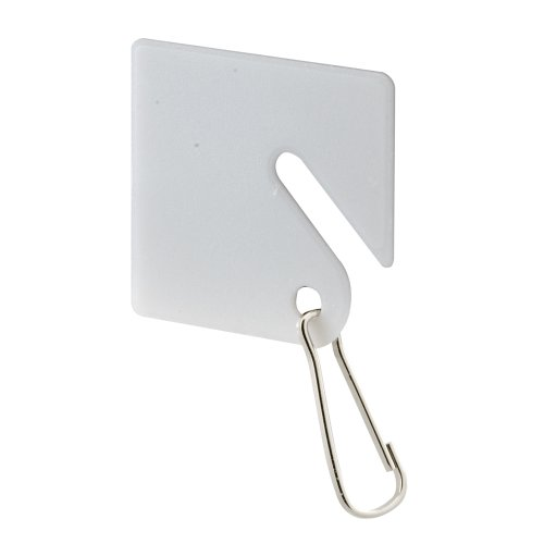 "Defender Security EP 4269 Plastic Write-On Key Tag with Metal Hook - Easily Identify Keys and Keep Them Organized - 1-1/2"" White (Pack of 20)"