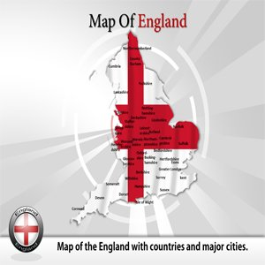 Map Of England Template.Amazon Com Map Of England Powerpoint Template Map Of England