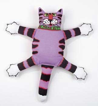 Fat Cat Squeak Dog Toy Mini Terrible Nasty Scaries 9 In. Tall Assorted Styles