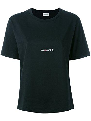 Saint Laurent T-Shirt Donna 460876YB2DQ1000 Cotone Nero