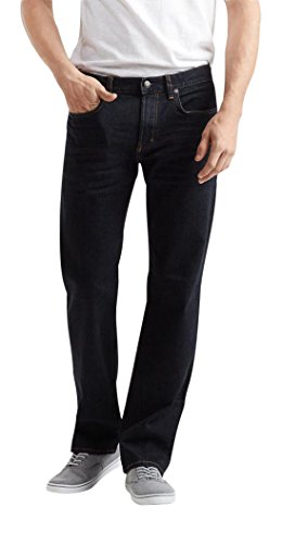 Aeropostale Men's Straight Dark Wash Stretch Jean 28 Dark Wash